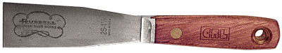 Russell 1-1/4 inch Stiff Blade Putty Knife - Tool Steel - CRL 2S114