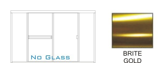 SE-3000B-R Framed Shower Enclosure KD Size 84 inch wide x 69-1/4 inch high, Showerhead Right, Brite Gold.