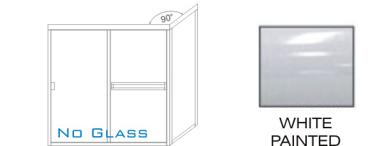 SE-3000C-L Framed Shower Enclosure KD Size 60-1/2 inch wide x 69-1/4 inch high, Showerhead Left, White Painted.