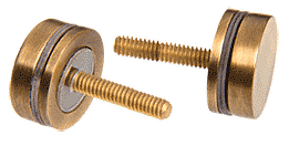 CRL Antique Brass Replacement Washer/Stud Kit for Single-Sided Solid Pull Handle CRL 30SKABR