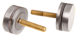 CRL Brushed Nickel Replacement Washer/Stud Kit for Single-Sided Solid Pull Handle CRL 30SKBN