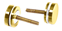 CRL Polished Brass Replacement Washer/Stud Kit for Single-Sided Solid Pull Handle CRL 30SKBR