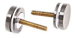 CRL Polished Nickel Replacement Washer/Stud Kit for Single-Sided Solid Pull Handle CRL 30SKPN
