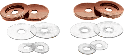 CRL Antique Brushed Copper Replacement Washers for Back-to-Back Solid Pull Handle CRL 30WKABC0