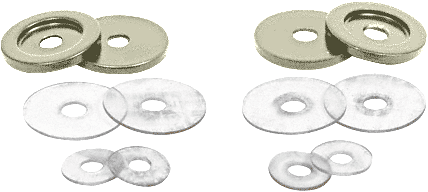 CRL Antique Brushed Nickel Replacement Washers for Back-to-Back Solid Pull Handle CRL 30WKABN