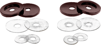 CRL Antique Bronze Replacement Washers for Back-to-Back Solid Pull Handle CRL 30WKABRZ