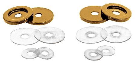 CRL Antique Brass Replacement Washers for Back-to-Back Solid Pull Handle CRL 30WKABR