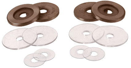 CRL Brushed Bronze Replacement Washers for Back-to-Back Solid Pull Handle CRL 30WKBBRZ