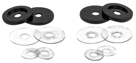 CRL Matte Black Replacement Washers for Back-to-Back Solid Pull Handle CRL 30WKMBL
