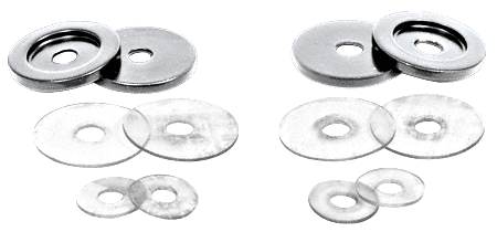 CRL Brushed Nickel Replacement Washers for Back-to-Back Solid Pull Handle CRL 30WKBN