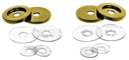 CRL Polished Brass Replacement Washers for Back-to-Back Solid Pull Handle CRL 30WKBR