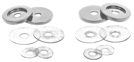 CRL Brushed Satin Chrome Replacement Washers for Back-to-Back Solid Pull Handle CRL 30WKBSC