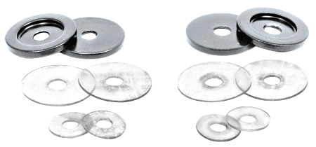 CRL Polished Chrome Replacement Washers for Back-to-Back Solid Pull Handle CRL 30WKCH