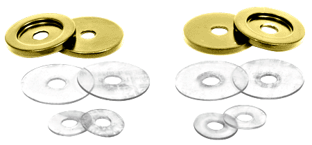 CRL Gold Plated Replacement Washers for Back-to-Back Solid Pull Handle CRL 30WKGP