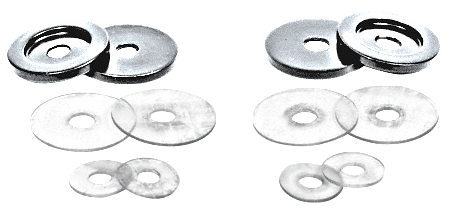 CRL Satin Chrome Replacement Washers for Back-to-Back Solid Pull Handle CRL 30WKSC