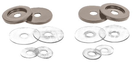 CRL Satin Nickel Replacement Washers for Back-to-Back Solid Pull Handle CRL 30WKSN