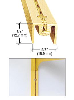 """CRL Brite Gold Anodized 48"""" Aluminum Wall Standard CRL 322BGA48"""