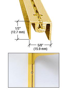 """CRL Gold Anodized 72"""" Aluminum Wall Standard CRL 322GA72"""