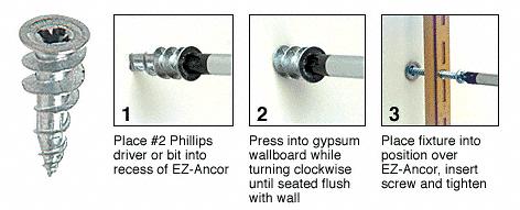 CRL Zinc 6-8 Screw Size EZ-Anchor for Drywall CRL 5000902