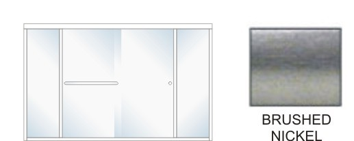 SE-5000B-R Heavy Duty Euro Style Shower Enclosure Size 84 inch wide x 70-3/4 inch high, Showerhead Right, Brushed Nickel.