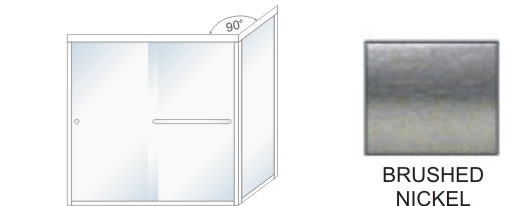 SE-5000C-L Heavy Duty Euro Style Shower Enclosure Size 60 inch wide x 70-3/4 inch high, Showerhead Left, Brushed Nickel.