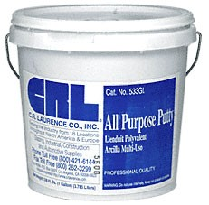 White Gallon All Purpose Putty - CRL 533GLW