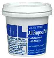Gray 1/2 Pint All Purpose Putty - CRL 533HPGRY