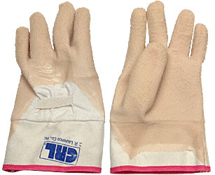 Gauntlet Cuff Wrinkle Finish Natural Rubber Palm Gloves - CRL 66NFW