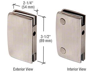 CRL Brushed Nickel Glass Swinging Door Lock Receiver for 700CBN CRL 701CBN