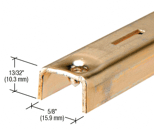 "CRL Brass 48"" KV Steel Standard CRL 80B48"