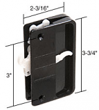 "Black Sliding Screen Door Latch and Pull With a Long Hook and 3"" Screw Holes for Anjac Doors - CRL A192"