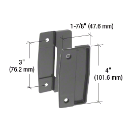 "CRL Black Sliding Screen Door Plastic Pull Set with 3"" Screw Holes CRL A111"