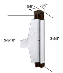 "Sliding Screen Flip Latch With 3-5/16"" Screw Holes for Ador Hilite - CRL A120"