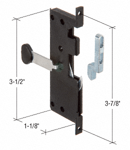 "CRL Screen Door Latch and Pull with 3-7/8"" Screw Holes CRL A121"