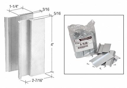 CRL Bulk Pack of Aluminum Pull Set for Thick Doors CRL A153B