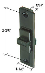 "Black Plastic Latch With 3-3/8"" Screw Holes for Peachtree Citation II Doors - CRL A175"