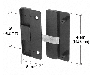 """CRL Black Sliding Screen Door Latch and Pull With 3"""" Screw Holes for Columbia-Matic Doors- Bulk CRL A177B"""