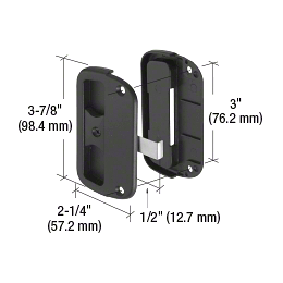 """CRL Black Sliding Screen Latch and Pull with 3"""" Screw Holes CRL A186"""