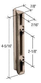 """CRL Stone Plastic Sliding Screen Door Outside Pull with 2-1/8"""" Screw Holes for Andersen Doors CRL A211"""