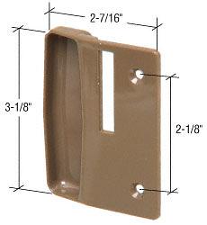 "CRL Stone Plastic Sliding Screen Door Inside Pull with 2-1/8"" Screw Holes for Andersen Doors CRL A216"