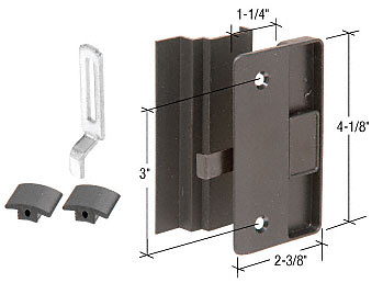"""CRL Black Sliding Screen Door Latch and Pull with 3"""" Screw Holes for Columbia Supreme Series Doors CRL A219"""