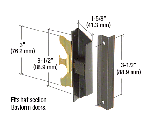 """CRL Black Sliding Screen Door Latch and Pull with 3-1/2"""" Screw Holes for Section Doors by Bayform CRL A220"""