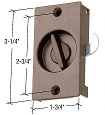 "Stone Sliding Screen Door Narrow Screen Door Latch With 2-3/4"" Screw Holes for 1968 to 1981 Andersen Doors - CRL A229"