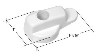 White Hinged Screen Door Latch for Andersen Doors - CRL A230