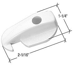 White Sliding Screen Door Latch for Andersen Doors - CRL A232