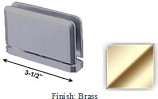 Brass Antap 168B Series Beveled Round Edges Top or Bottom Mount Pivot Hinge with Optional Adapter Block - AN168B_BR