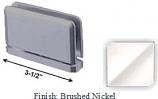 Brushed Nickel Antap 168B Series Beveled Round Edges Top or Bottom Mount Pivot Hinge with Optional Adapter Block - AN168B_BN