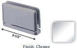 Chrome Antap 168B Series Beveled Round Edges Top or Bottom Mount Pivot Hinge with Optional Adapter Block - AN168B_CR