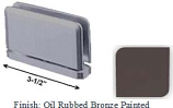Oil Rubbed Bronze Painted Antap 168B Series Beveled Round Edges Top or Bottom Mount Pivot Hinge with Optional Adapter Block - AN168B_ORB