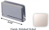 Polished Nickel Antap 168B Series Beveled Round Edges Top or Bottom Mount Pivot Hinge with Optional Adapter Block - AN168B_PN